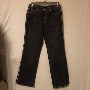 Talbots bell bottom jeans zs 10 navy blue